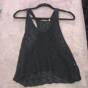 Tops - Black Crochet Tank